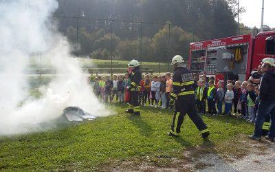 Predstavitev gasilcev na PŠ Donačka Gora