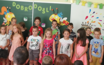 Sprejem prvošolcev na PŠ Donačka Gora